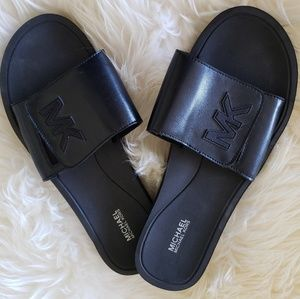 Michael  Kors Men's Slides Sandals BLK sz 10